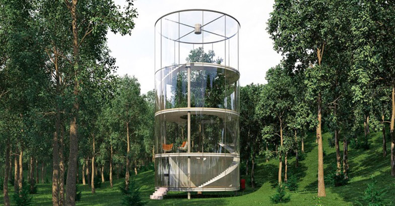 Tubular glass house by aibek almassov - The tubular glass house ...